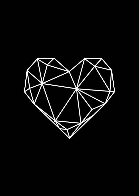Geometrisches Herz, modernes Design im skandinavischen Stil … – #design #electronic #Geo …   – Mein Zimmer – #Design #electronic