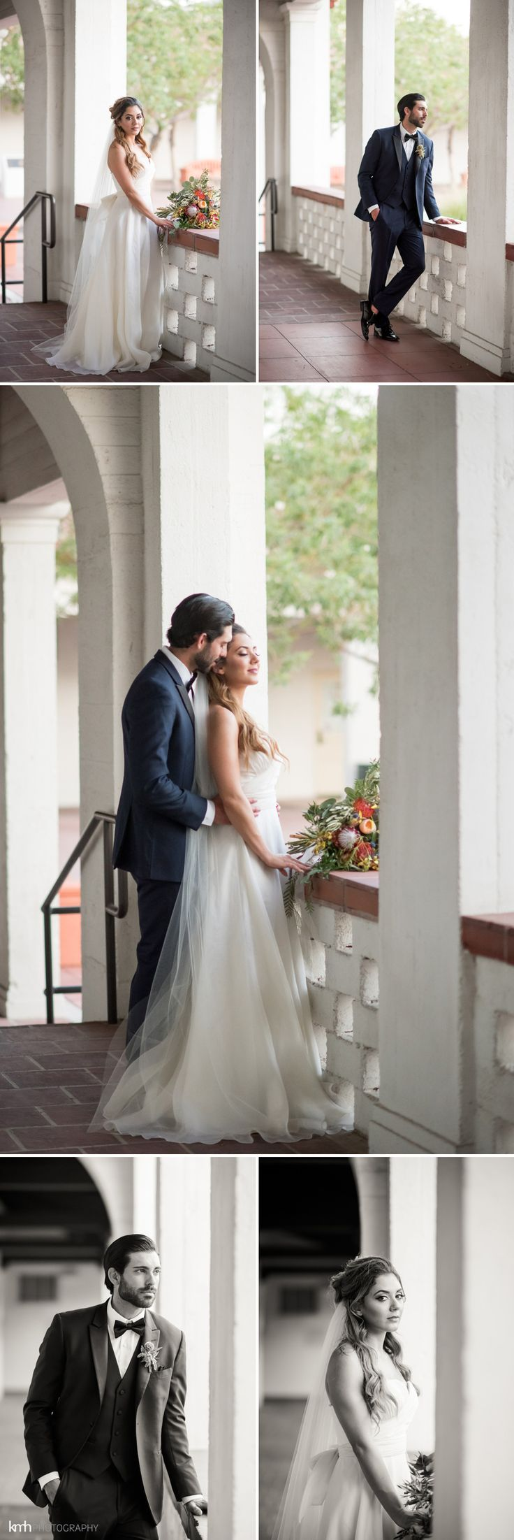 Romantic, Modern Wedding Inspiration at Historic Fifth Street School Wedding in Las Vegas, NV | KMH Photography