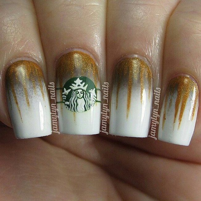 Starbucks Nail Art Ideas | POPSUGAR Beauty