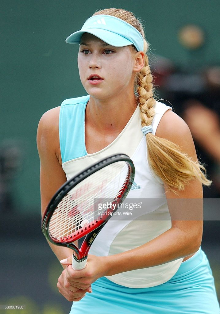 Anna Kournikova (RUS) in action during a match against Jennifer Hopkins (USA) during the Acura Classic Tennis Tournament played at the La Costa Spa and Resort in carlsbad, CA.