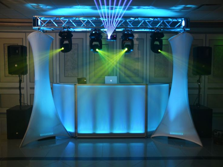 dj facade | Dj facade with truss lights