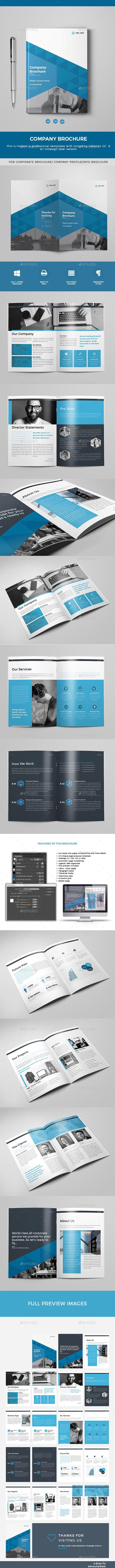 Brochure  — InDesign Template #template #design #brochure #business…