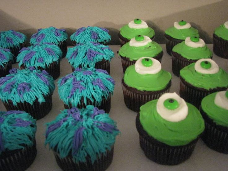 Monsters Inc. Cupcakes!! My daughter would love these