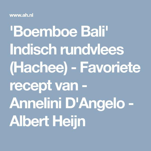 'Boemboe Bali' Indisch rundvlees (Hachee) - Favoriete recept van - Annelini D'Angelo - Albert Heijn