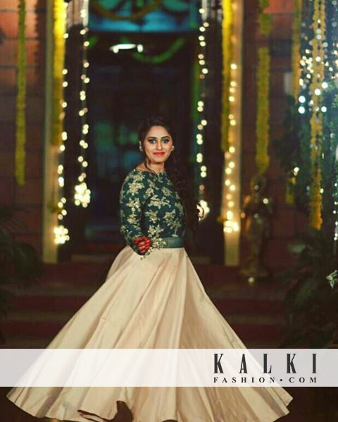 Our beautiful #KALKIBride twirling like a total princess in our @kalkifashion gown🤗😍  SKU - 343831 PRICE - 18,540