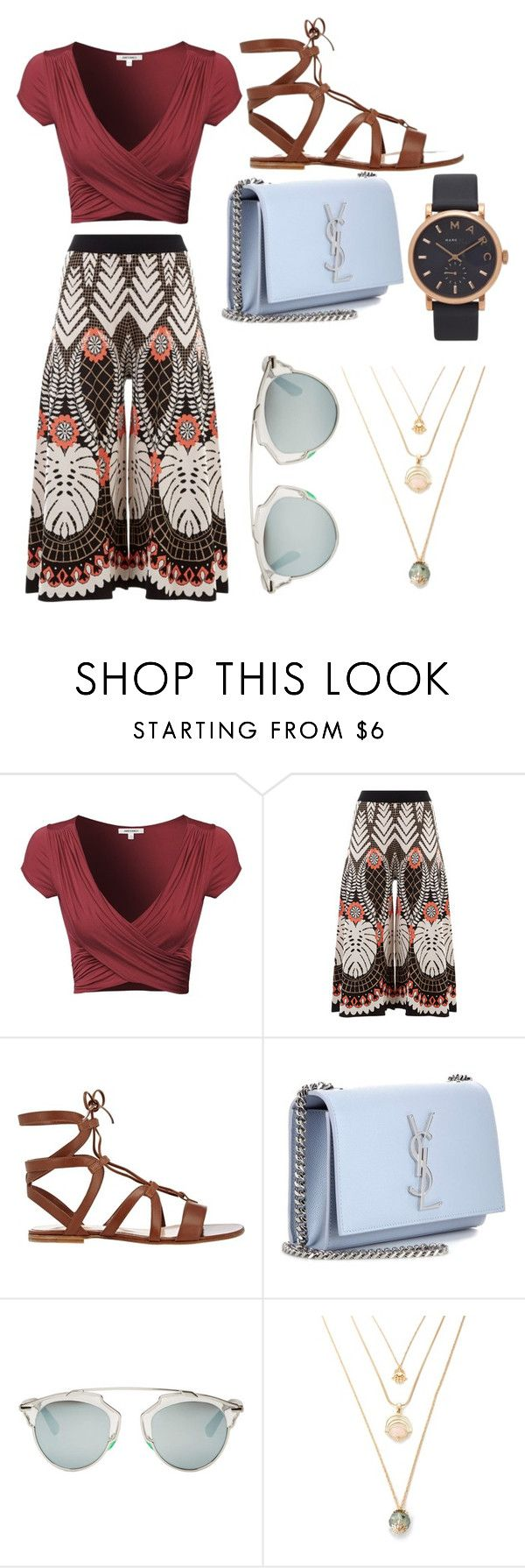 """Modern bohemian"" by uyalyssa ❤ liked on Polyvore featuring Temperley London, Gianvito Rossi, Yves Saint Laurent, Christian Dior, Marc Jacobs and modern"