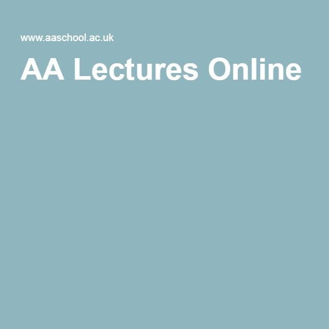 AA Lectures Online