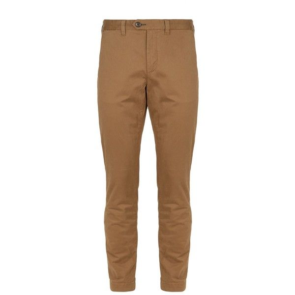 Ted Baker Canny Classic Fit Chinos (128,065 KRW) ❤ liked on Polyvore featuring men's fashion, men's clothing, men's pants, men's casual pants, mens cuffed pants, ted baker mens pants, mens chino pants, mens chinos pants and mens rolled up pants