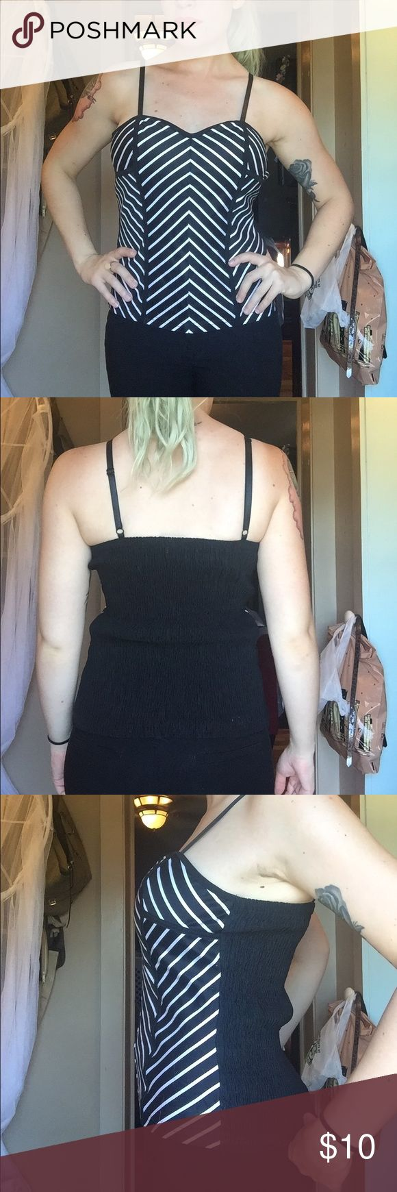Body Central chevron tank Hand me down. Never worn. Very stretchy! Has padding for your boobs. Body Central Tops Tank Tops