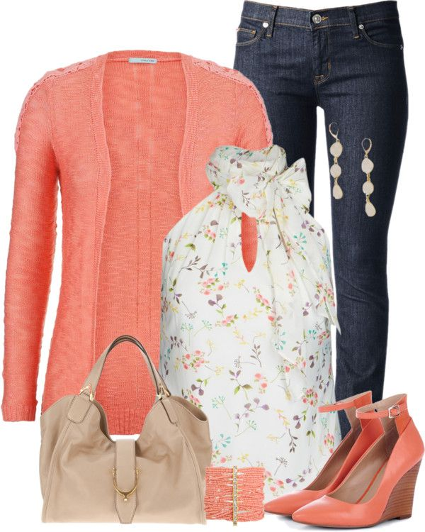 plain outfits sweater coral 11