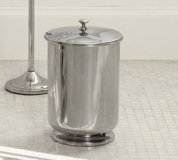 Mercer Lidded Trash Can   Contemporary   Waste Baskets   Pottery Barn