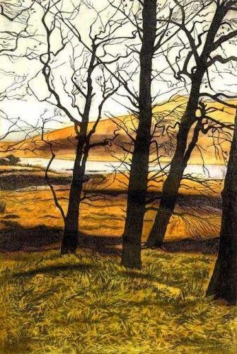 Louise Leonard: Killary Harbour, etching,  €300