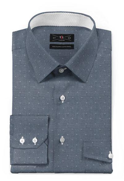 Blue micropattern 100% cotton Shirt: http://www.tailor4less.com/en-us/men/shirts/3095-blue-micropattern-100-cotton-shirt