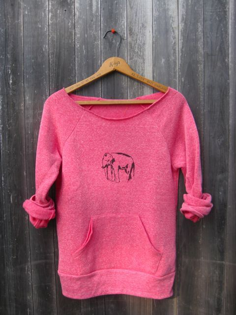 too tired to argue Elephant Sweatshirt, Elephant Sweater, Off Shoulder Top, S,M,L,XL on Etsy, $36.00