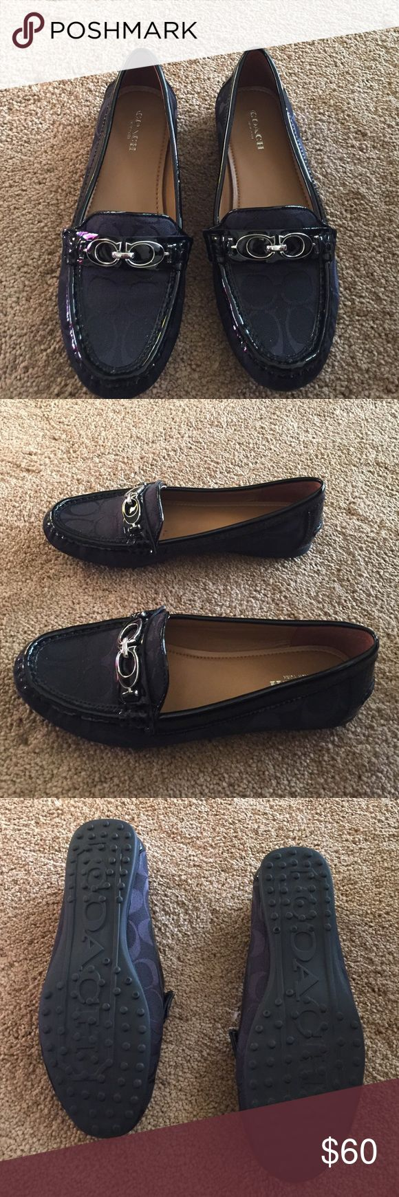 Coach flats Worn once but still in excellent condition. These shoes are so cute they are just a little too small for me. Coach Shoes Flats & Loafers