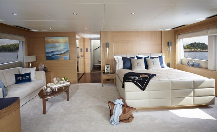 M Y Solaris The Skylounge Has Been Transformed Into A Master Suite On Board The 40m Superyacht M Y Solaris Including En S Princess Yachts Boat Interior Yacht