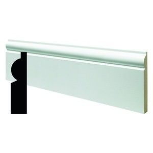 High-quality, fully finished MDF skirting. Colour matched with Wickes Quick Dry Satin Brilliant White Paint for ease and speed of installation