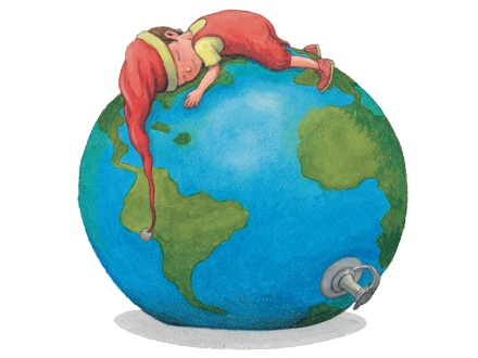 By Jimmy Liao, 幾米, well-known Taiwanese illustrator and writer.  Love our earth.