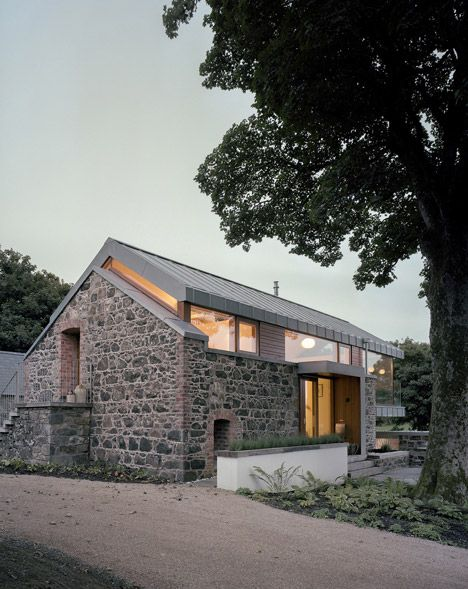 Loughloughan Barn by McGarry Moon Architects | old barn gets reinvented | steel frame, wooden joinery + old stone