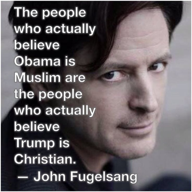 The people who believe President Obama is Muslim, are the same people who actually believe donald trump is Christian