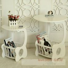 Küçük sehpa dergisi pastoral beyaz minimalist monte yuvarlak ev mobilya katı ahşap yan tabloları masa oturma odası için(China (Mainland))