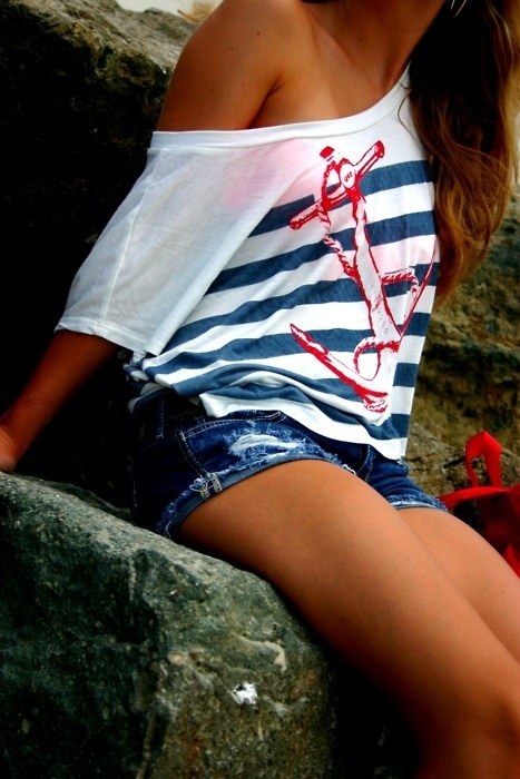 cuteness-anchor shirt. I WANT IT!! Shannon you should buy this shirt for me!