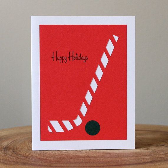 This makes me want to make cards like this only make them for the start of hockey season... Happy hockey season