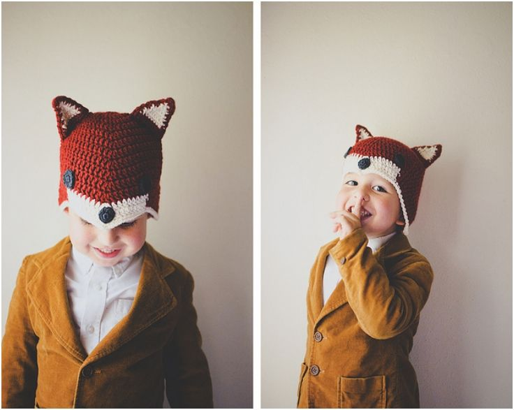 "Crochet: Sly Fox Hat!!  ""What does the fox say?"""""