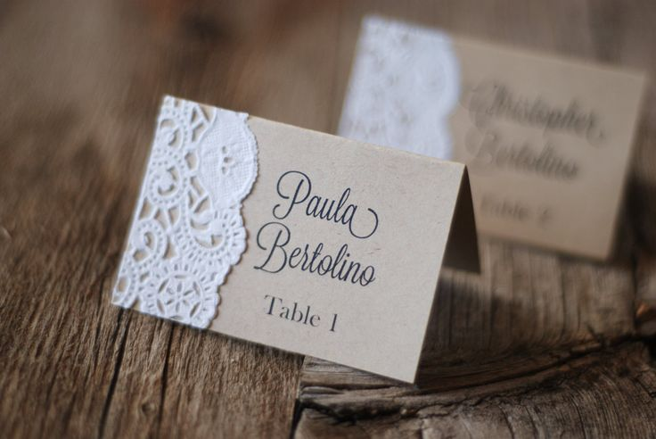 Handmade Rustic Tented Table Place Card Setting - Custom - Escort Card - Shabby Chic - Vintage Burlap