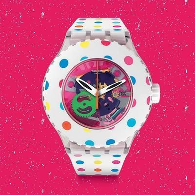 Light up your day with the #Swatch HAPPY DOTS from the #Sportmixer collection! #swatchwatch #wotd #watchofinstagram #covetme
