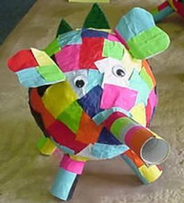 Elmer van papier mache