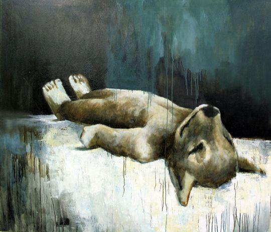 Rest. Acryl and oil on canvas. 160cm x 175cm. 2008 By Samuli Heimonen