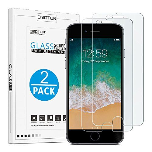 Discounted OMOTON 9H Hardness HD Tempered Glass Screen Protector for Apple iPhone 8 Plus / iPhone 7 Plus, 2 Pack