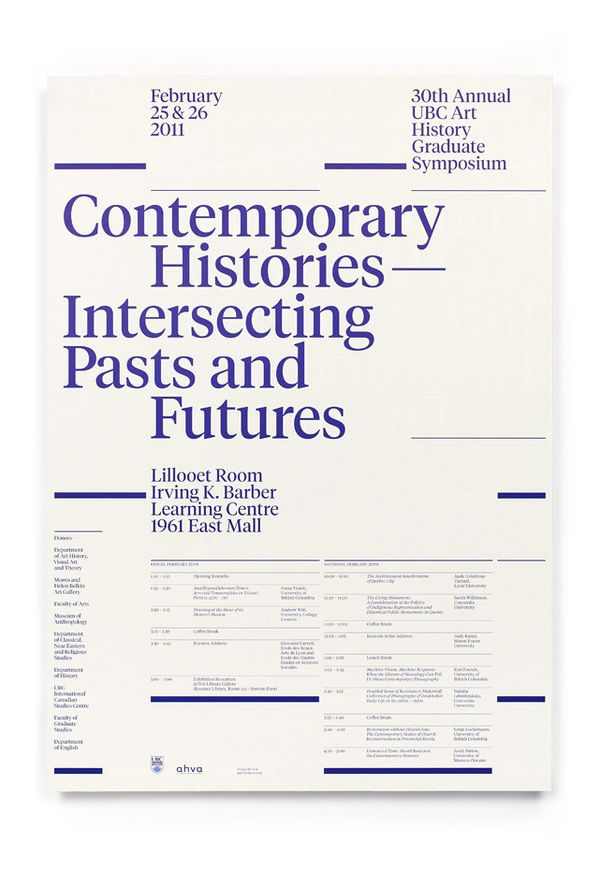 UBC Art History Graduate Symposium by Post Projects , via Behance