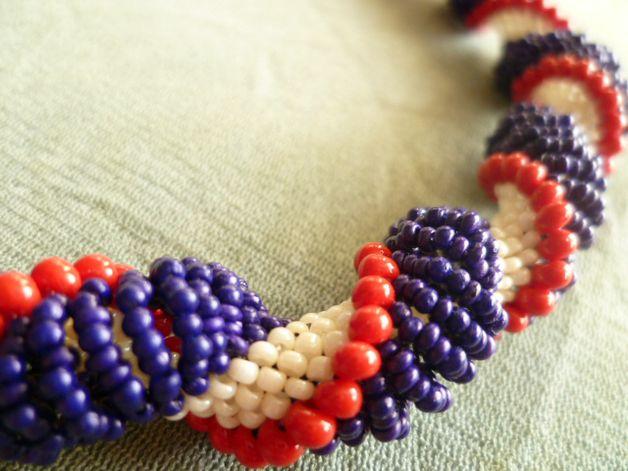London Time naszyjnik - Projektownia - Naszyjniki krótkie #necklace #beaded #bijou #dutchspiral #citylook #fashion #jewelry