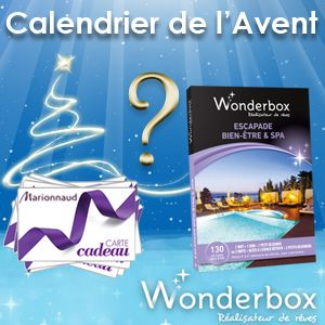 #Jeu Calendrier de l'Avent #BeautéAddict ! Tirage au sort ce soir! Séjour #Wonderbox et cartes #cadeaux #Marionnaud à gagner !!!