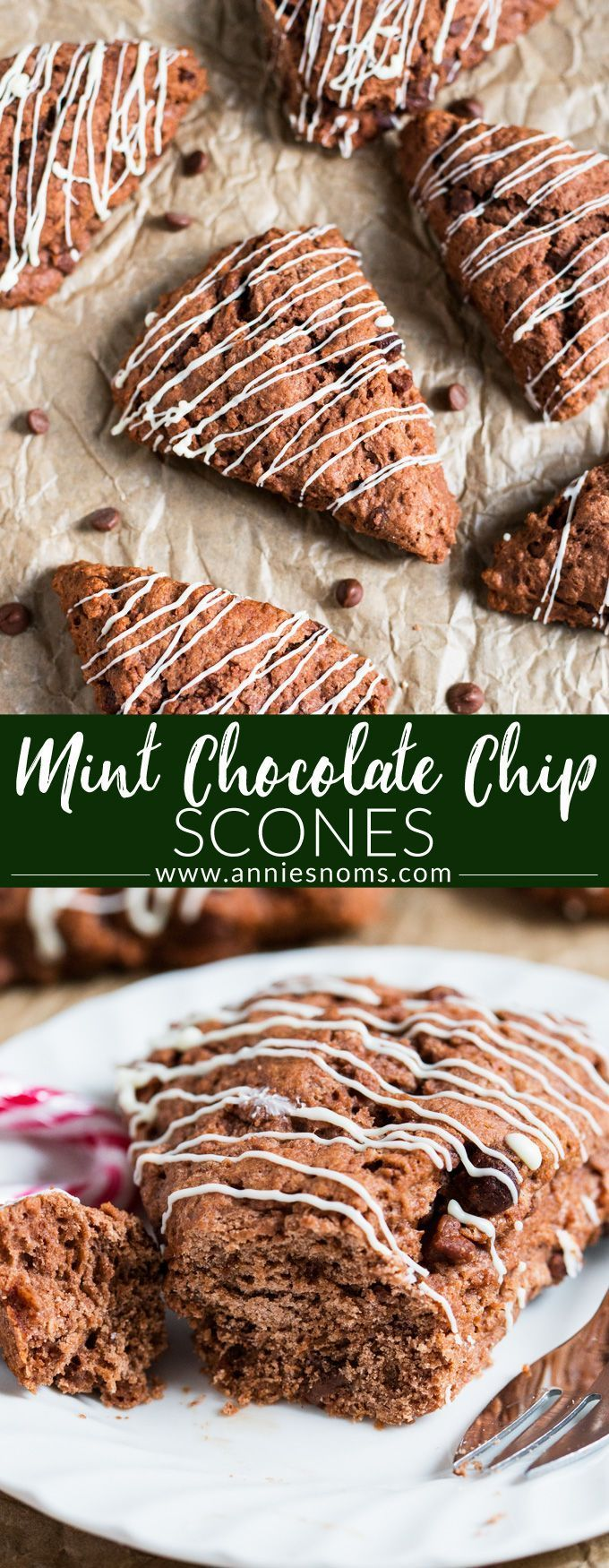 These mint chocolate scones are filled with gooey chocolate chips and plenty of mint flavour. The perfect chocolate for breakfast festive #recipe! #christmas #scones #mintchocolate