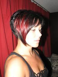 kapsels Donker Haar Rode Highlights - Korte Kapsels