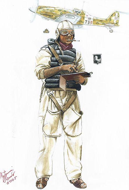 "Regia Areonautica - Sottotenente Pilota, 4th Stormo Francesco Baracca, Libia, 1941"""