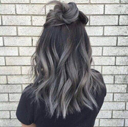 hair, grey, dark grey hairstyle, trend                                                                                                                                                                                 More