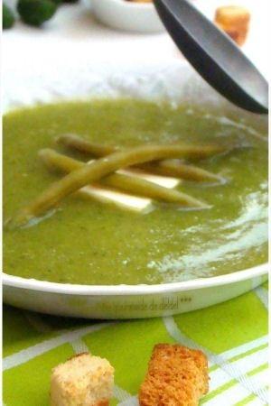 Soupe aux haricots, courgette et Kiri