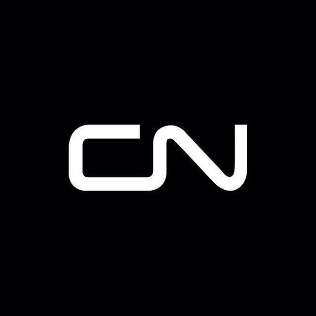 I Love Ligatures. Canadian National Railway logo by Allan Fleming, 1960. via Logoarchive