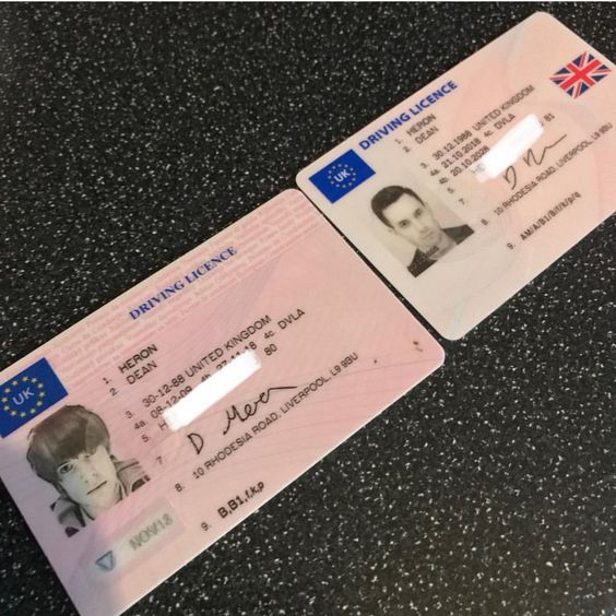 Uk Driver S License Drivers License Driving License Passport