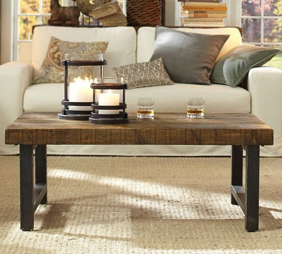 Griffin Coffee Table (potterybarn) - use left over table wood to make  something similar? - 22 Best Images About Coffee Tables On Pinterest Rh