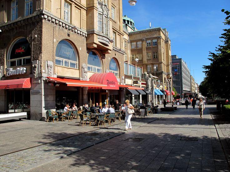 Vaasa city centre in summer.