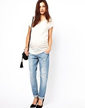 Image 1 ofNew Look Maternity Boyfriend Jean