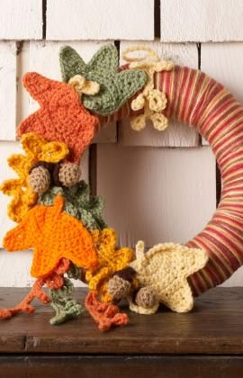 Autumn Leaves Wreath ~ free pattern