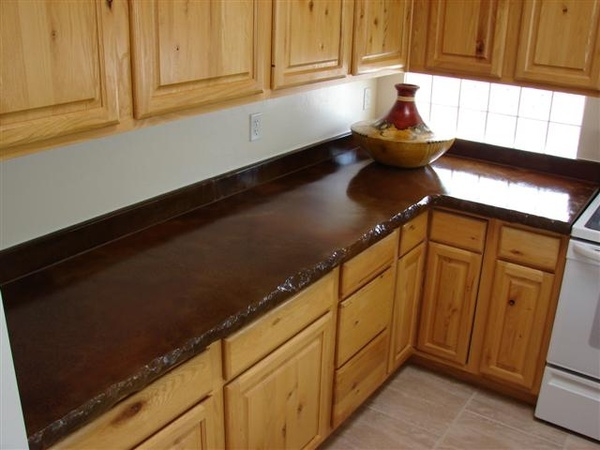 8 best microwave cabinet images on pinterest kitchen for Concrete kitchen countertops reviews