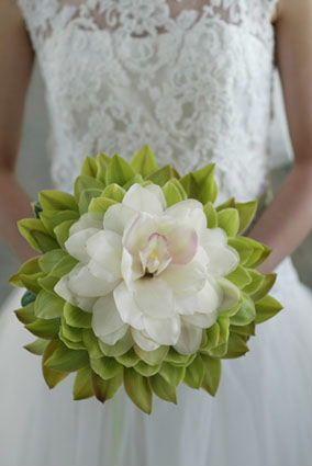 Green and white cymbidium orchids. Composite bouquet. #glamelia #cymbidiumorchids. #green