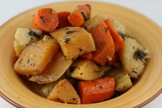 Roasted winter veggies in the crock pot!